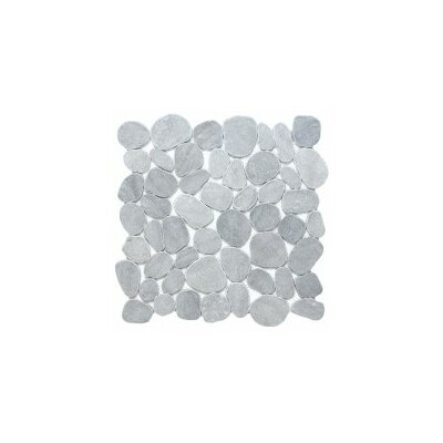 Cultura Pebbles 12 x 12 Mosaic Tile in Silver