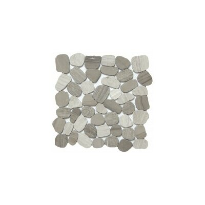 Cultura Pebbles 12 x 12 Mosaic Tile in Taupe
