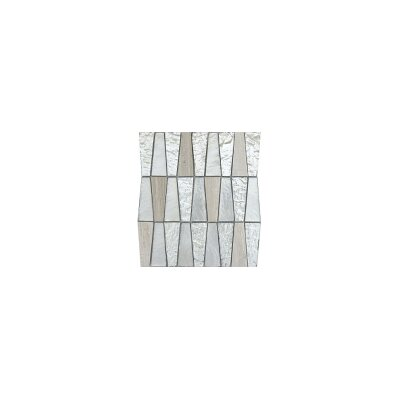 Imagine 11 x 12 Glass Stone and Metal Trapezoid Mosaic Tile in Panorama