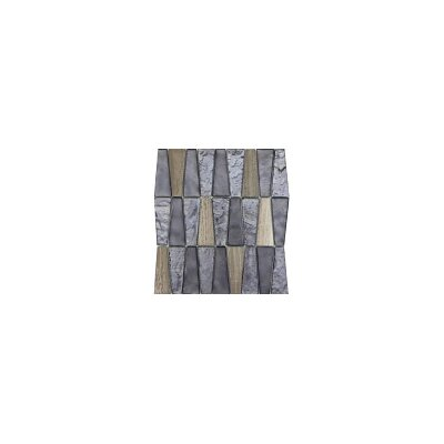 Imagine 11 x 12 Glass Stone and Metal Trapezoid Mosaic Tile in Reach