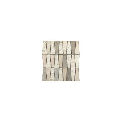 Imagine 11 x 12 Glass Stone and Metal Trapezoid Mosaic Tile in Prospect