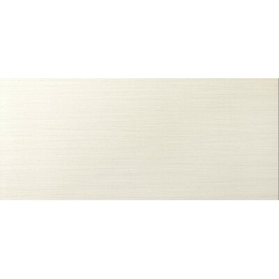 Strands 6 x 24 Porcelain Fabric Look/Field Tile in Pearl Polished