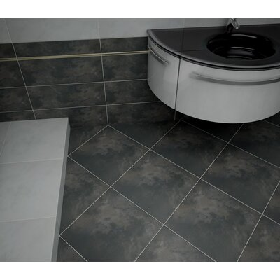 Cosmopolitan 13 x 3 Surface Bullnose Tile Trim in Charcoal