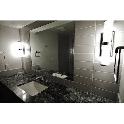 Vogue 4 x 16 Ceramic and Glass Bullnose Tile in Gray Gloss