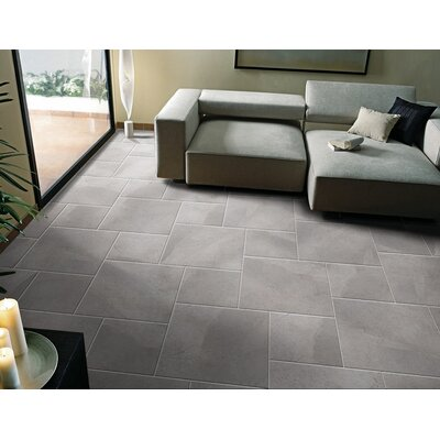St Moritz II 12 x 12 Porcelain Field Tile in Gray