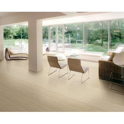 Perspective 12 x 3 Bullnose Tile Trim in Beige