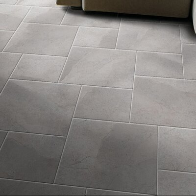 St Moritz 12 x 3 Porcelain Bullnose Tile Trim in Gray