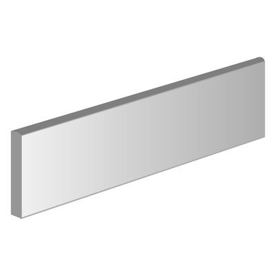 Surface 3 x 12 Porcelain Bullnose Tile in Plain Gray