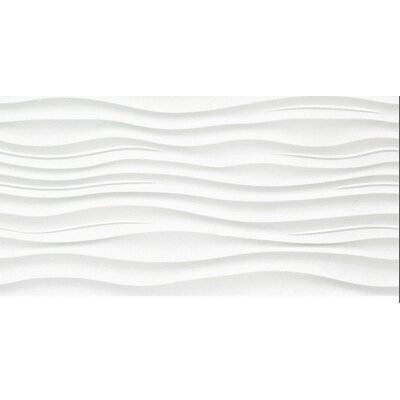 Surface 12 x 24 Porcelain Tile in Ripple White