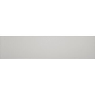 Basix 16 x 4 Ceramic Left Double Bullnose Tile Trim in Gray Matte