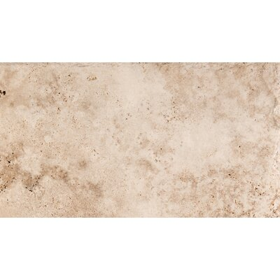 Natural Stone Chiseled 8 x 16 Travertine Field Tile in Vanilla Coffee