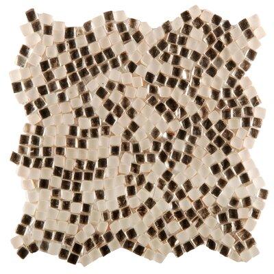 Charm Random Sized Glass Mosaic Tile in Magnet