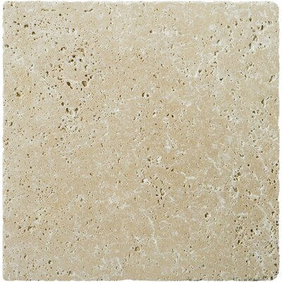 Natural Stone Fontane 16 x 16 Travertine Field Tile in Ivory Classic