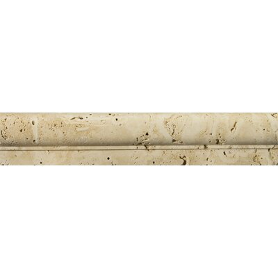Natural Stone Fontane Mini 2 x 12Travertine Speciality Exterior Tile Trim in Ivory Classic