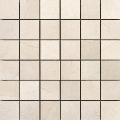 St Moritz II 2 x 2 Porcelain Mosaic Tile in Cream