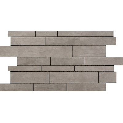 Citadel Random Sized Porcelain Mosaic Tile in Gray