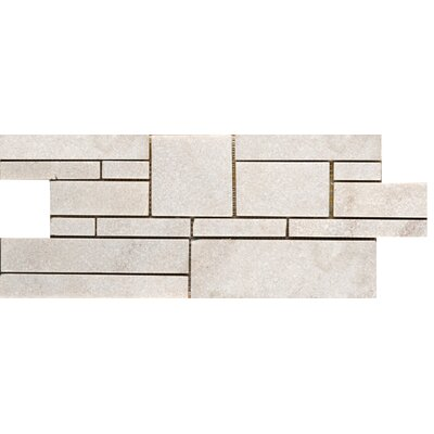 Natural Stone Random Sized Quartzite Mosaic Tile in White