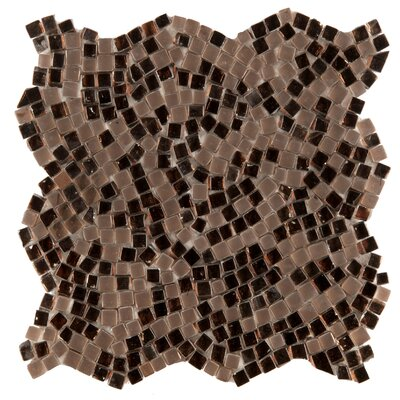 Charm Random Sized Glass Mosaic Tile in Ornament