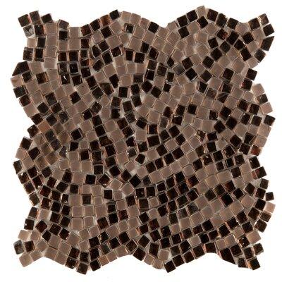 Charm Random Sized Glass Mosaic Tile in Ornament
