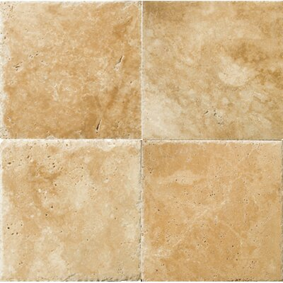 Natural Stone Banded 48 x 48 Travertine Field Tile in Umbria Savera