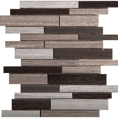 Ambiance Linear Random Sized Porcelain Mosaic Tile in Shore