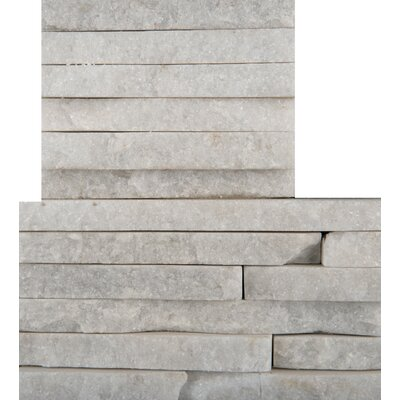 Natural Stone Quartzite Corner Piece Tile Trim in White