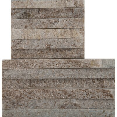 Natural Stone Mini Stacked Random Sized Quartzite Mosaic Tile in Cream Gold