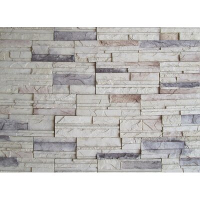 Cascade Mountain Random Sized Concrete Composite Rock Wall Tile in Calgary
