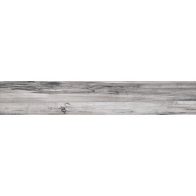 Theory 8 x 45 Porcelain Wood Look/Field Tile in Gray