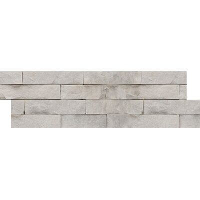 Natural Stone Stacked Slate Random Sized Quartzite Mosaic Tile in White