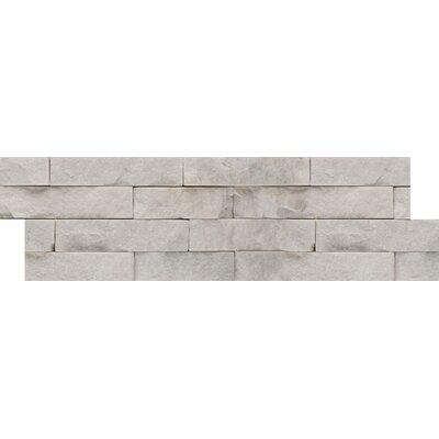 Natural Stone Stacked Slate Random Sized Quartzite Mosaic Tile in White