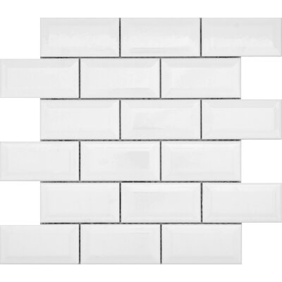 Vogue 2 x 4 Ceramic Mosaic Tile in White
