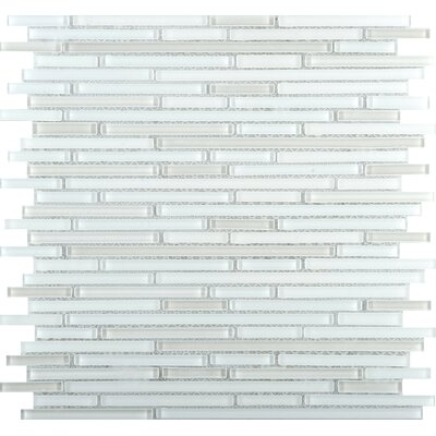 Infinity Random Sized Glass Mosaic Tile in White