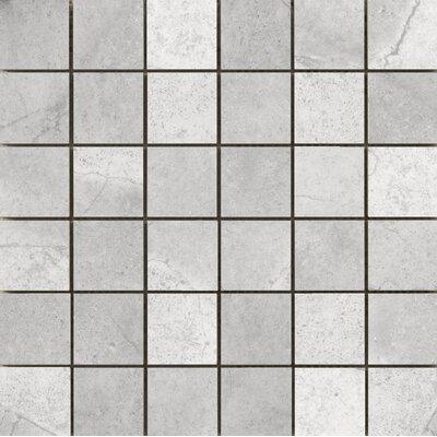 St Moritz II 2 x 2 Porcelain Mosaic Tile in Silver