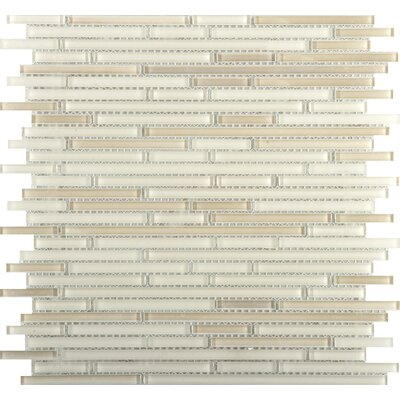 Infinity Random Sized Glass Mosaic Tile in Beige