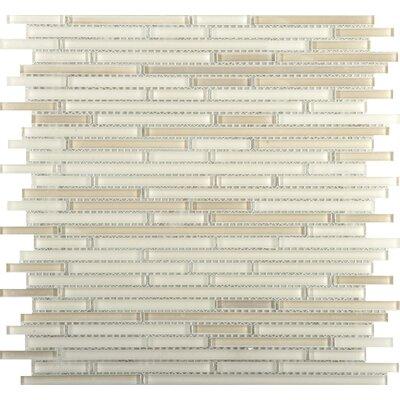 Infinity Random Sized Glass Mosaic Tile in Beige