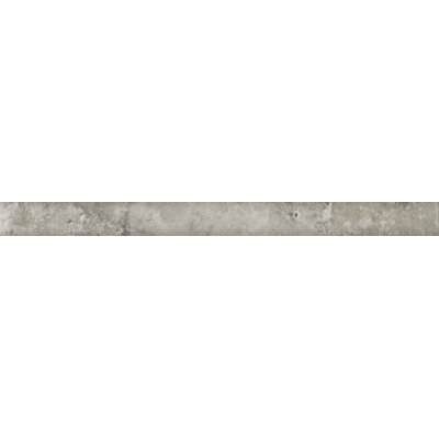 Natural Stone 1 x 12 Pencil Liner Tile in Silver