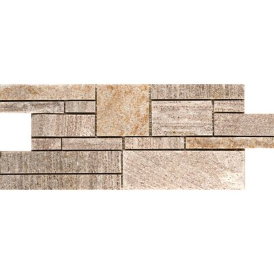 Natural Stone Random Sized Quartzite Mosaic Tile in Cream Gold