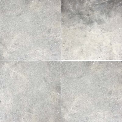 Natural Stone Chis Banded 48 x 48 Travertine Field Tile in Silver