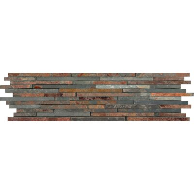 Natural Stone Mini Stacked Random Sized Slate Mosaic Tile in Multirajah