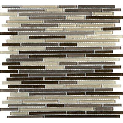 Infinity Random Sized Glass Mosaic Tile in Time