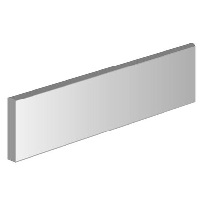 Style 3 x 12 Porcelain Bullnose Tile Trim in Pure White