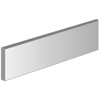Direction 3 x 12 Porcelain Bullnose Tile Trim in Proportion