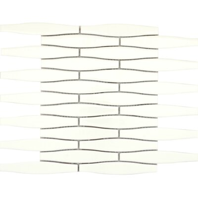 Vogue Convex 1 x 6 Porcelain Mosaic Tile in Matte Biscuit