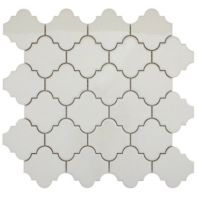 Vogue Lantern 3 x 3 Porcelain Mosaic Tile in Glossy Gray