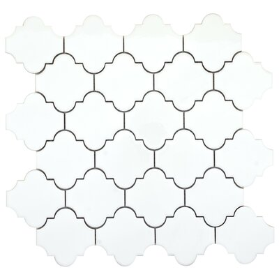 Vogue Lantern 3 x 3 Porcelain Mosaic Tile in Glossy White