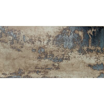 Chemistry 12 x 24 Porcelain Metal Look/Field Tile in Brown