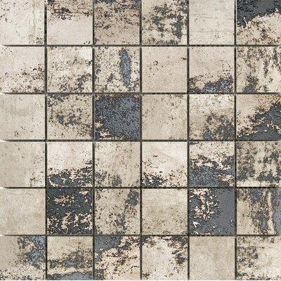 Chemistry 2 x 2 Porcelain Metal Look Tile in Brown