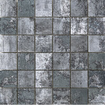 Chemistry 2 x 2 Porcelain Metal Look Tile in Gray