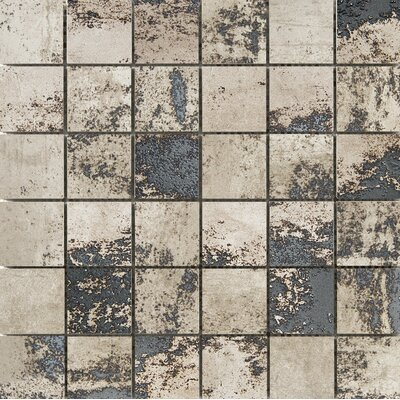 Chemistry 2 x 2 Porcelain Metal Look Tile in Taupe
